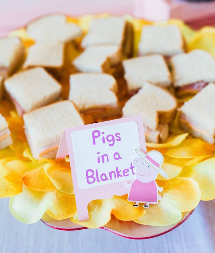 Pigs in a Blanket from a Peppa Pig Birthday Party on Kara's Party Ideas | KarasPartyIdeas.com (6)