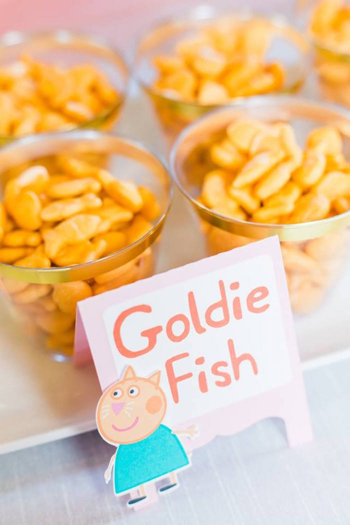 Goldie Fish Cups from a Peppa Pig Birthday Party on Kara's Party Ideas | KarasPartyIdeas.com (36)
