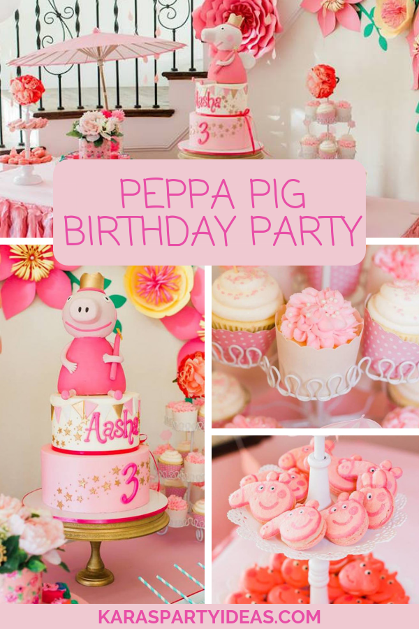 Peppa Pig Birthday Party via Kara's Party Ideas - KarasPartyIdeas.com
