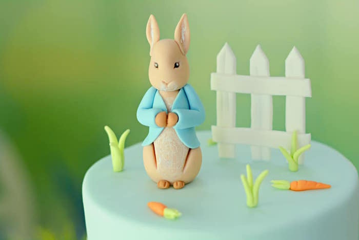 Peter Rabbit Cake Top from a Peter Rabbit Birthday Party on Kara's Party Ideas | KarasPartyIdeas.com (9)