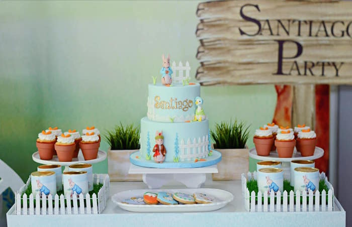 Peter Rabbit Themed Dessert Table from a Peter Rabbit Birthday Party on Kara's Party Ideas | KarasPartyIdeas.com (7)
