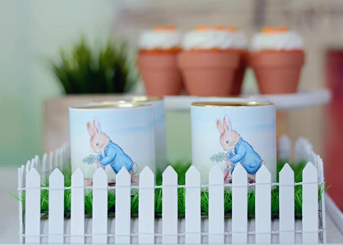 Peter Rabbit Favor Tins from a Peter Rabbit Birthday Party on Kara's Party Ideas | KarasPartyIdeas.com (18)