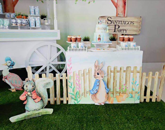 Peter Rabbit Themed Dessert Table from a Peter Rabbit Birthday Party on Kara's Party Ideas | KarasPartyIdeas.com (15)