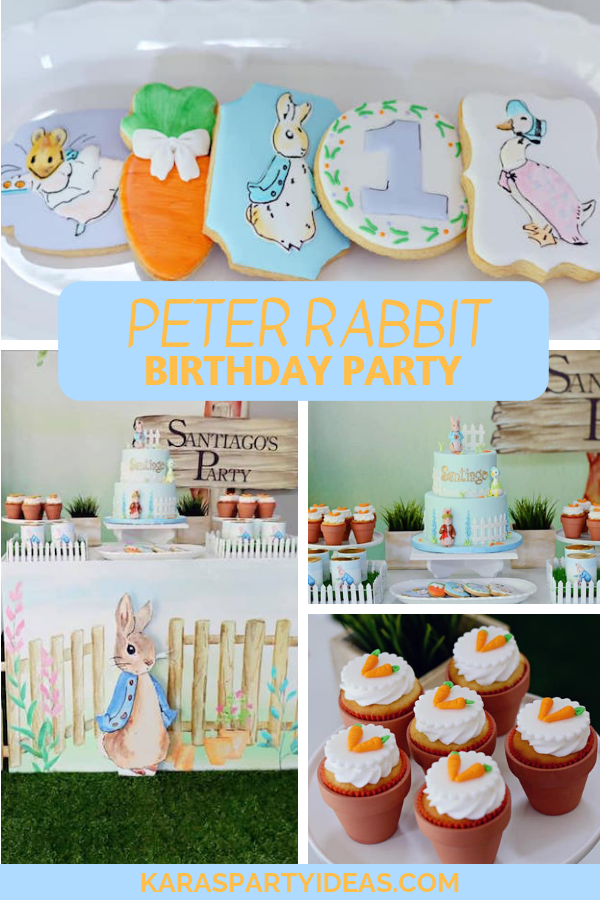 12 Peter Rabbit Cupcake Toppers Party Cake Baby Shower Birthday Party Easter
