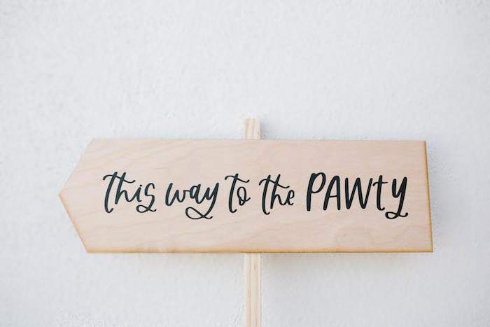 Wood This Way to the PAWTY Directional Sign from a Puppy Party on Kara's Party Ideas | KarasPartyIdeas.com (25)
