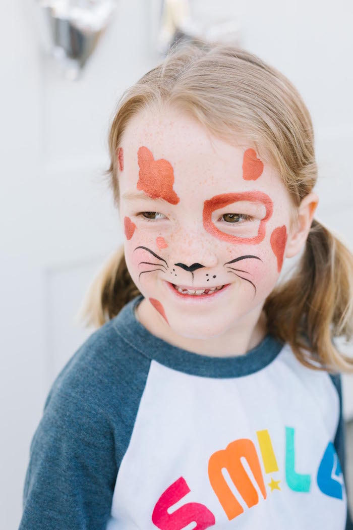 Puppy Face Paint from a Puppy Party on Kara's Party Ideas | KarasPartyIdeas.com (23)