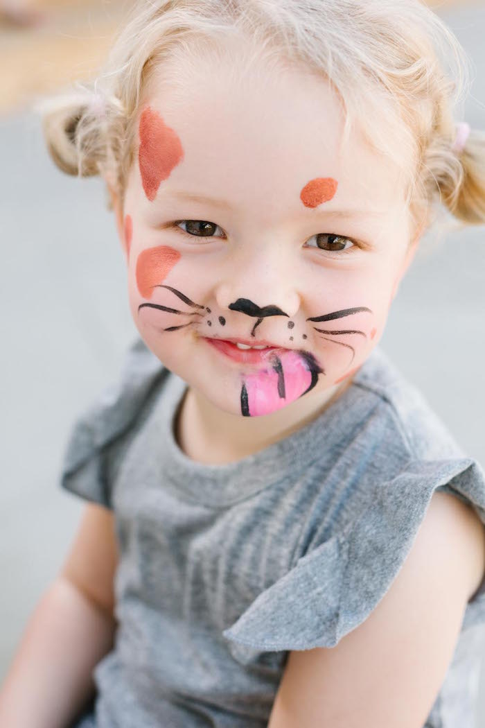 Puppy Face Paint from a Puppy Party on Kara's Party Ideas | KarasPartyIdeas.com (22)