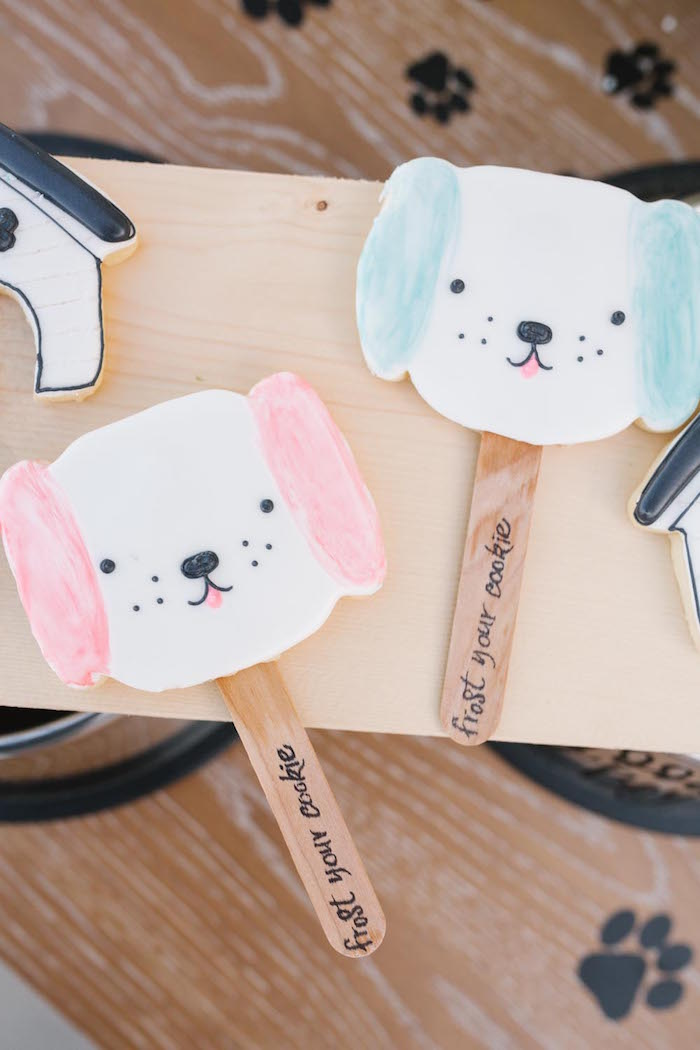 Puppy Cookie Pops from a Puppy Party on Kara's Party Ideas | KarasPartyIdeas.com (11)