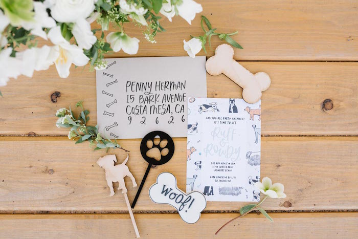 Puppy Party Invite from a Puppy Party on Kara's Party Ideas | KarasPartyIdeas.com (7)