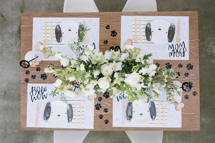 Puppy Themed Party Table from a Puppy Party on Kara's Party Ideas | KarasPartyIdeas.com (29)