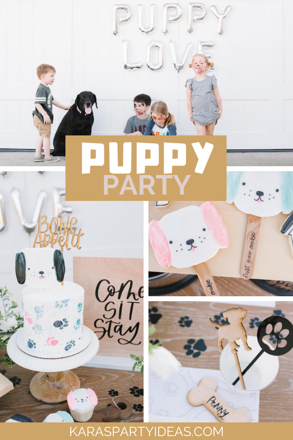 Puppy Party via KarasPartyIdeas - KarasPartyIdeas.com