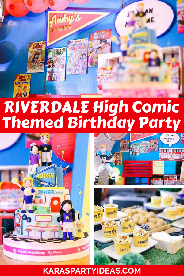 RIVERDALE High Comic Themed Birthday Party via Kara's Party Ideas - KarasPartyIdeas.com