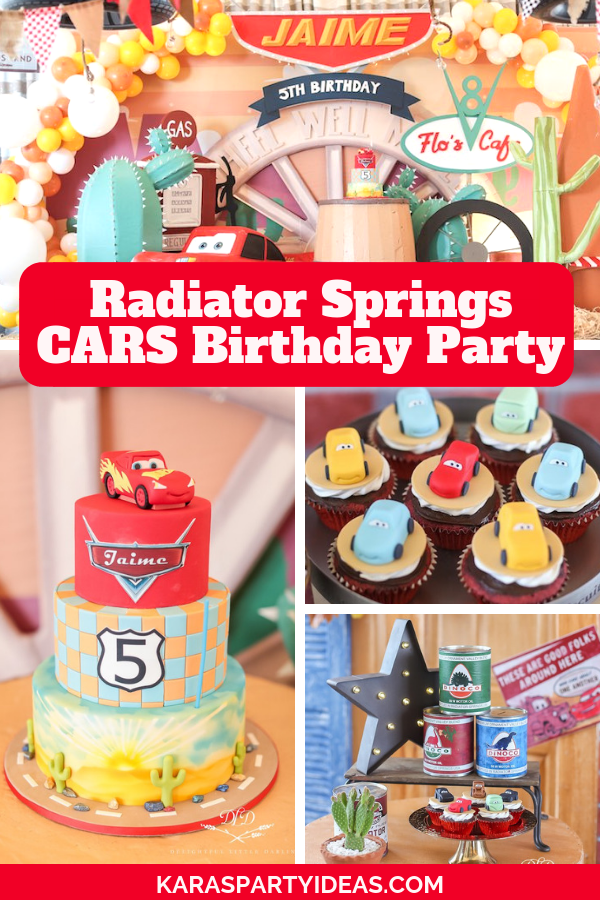 Radiator Springs CARS Birthday Party via Kara's Party Ideas - KarasPartyIdeas.com