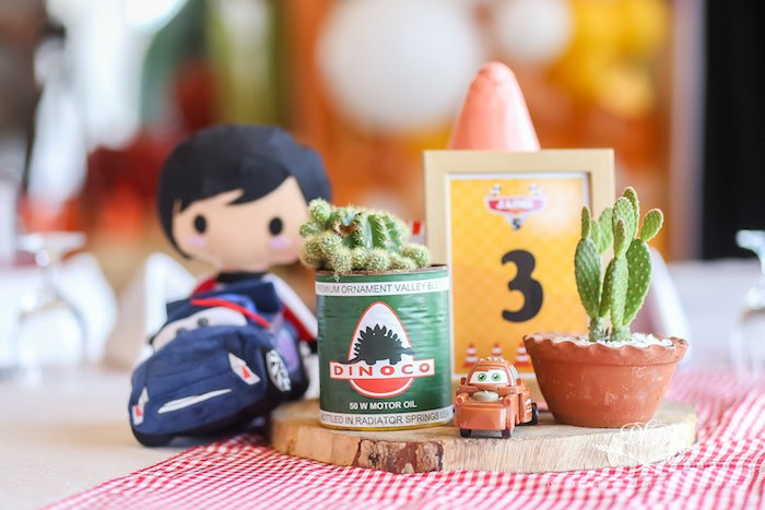 Cars-inspired Table Centerpieces from a Radiator Springs Cars Birthday Party on Kara's Party Ideas | KarasPartyIdeas.com (28)