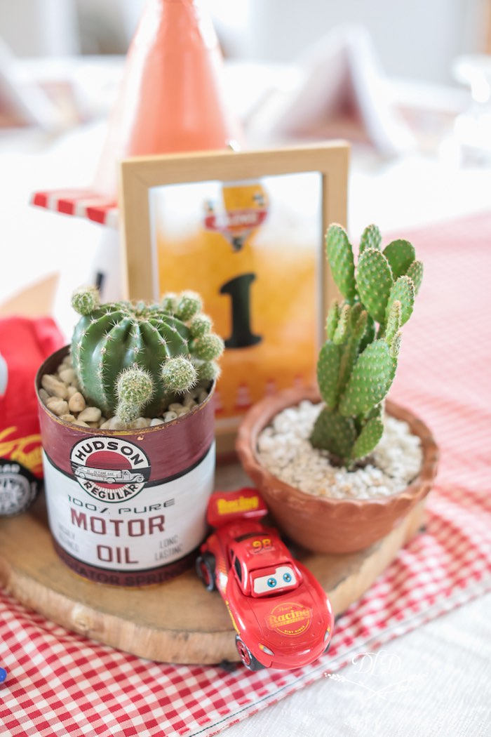 Oil Can Cacti from a Radiator Springs Cars Birthday Party on Kara's Party Ideas | KarasPartyIdeas.com (27)
