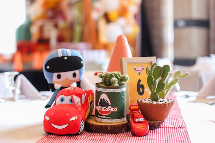 Cars-inspired Table Centerpieces from a Radiator Springs Cars Birthday Party on Kara's Party Ideas | KarasPartyIdeas.com (26)