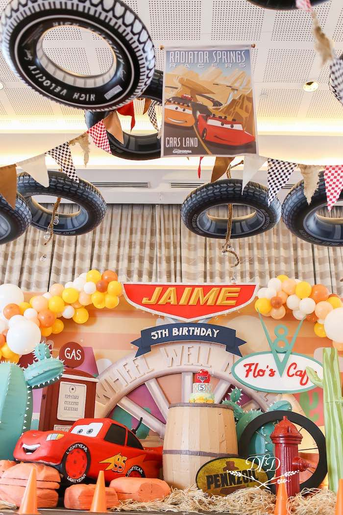 Flo's Cafe Cake Spread from a Radiator Springs Cars Birthday Party on Kara's Party Ideas | KarasPartyIdeas.com (20)