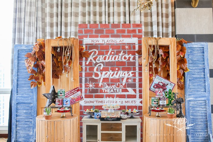 Radiator Springs Dessert Spread from a Radiator Springs Cars Birthday Party on Kara's Party Ideas | KarasPartyIdeas.com (15)