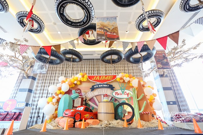 Flo's Cafe Cake Spread from a Radiator Springs Cars Birthday Party on Kara's Party Ideas | KarasPartyIdeas.com (36)