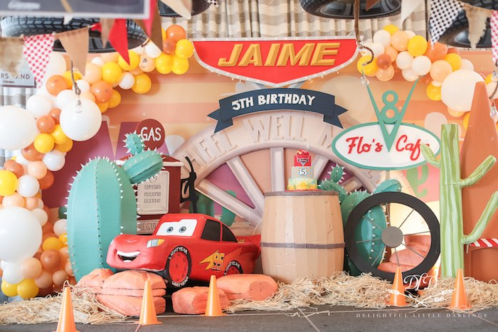 Flo's Cafe Cake Spread from a Radiator Springs Cars Birthday Party on Kara's Party Ideas | KarasPartyIdeas.com (35)