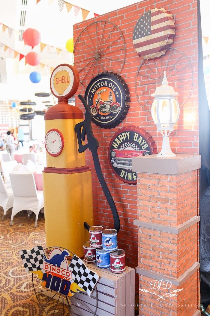 Vintage Gas Pump from a Radiator Springs Cars Birthday Party on Kara's Party Ideas | KarasPartyIdeas.com (32)