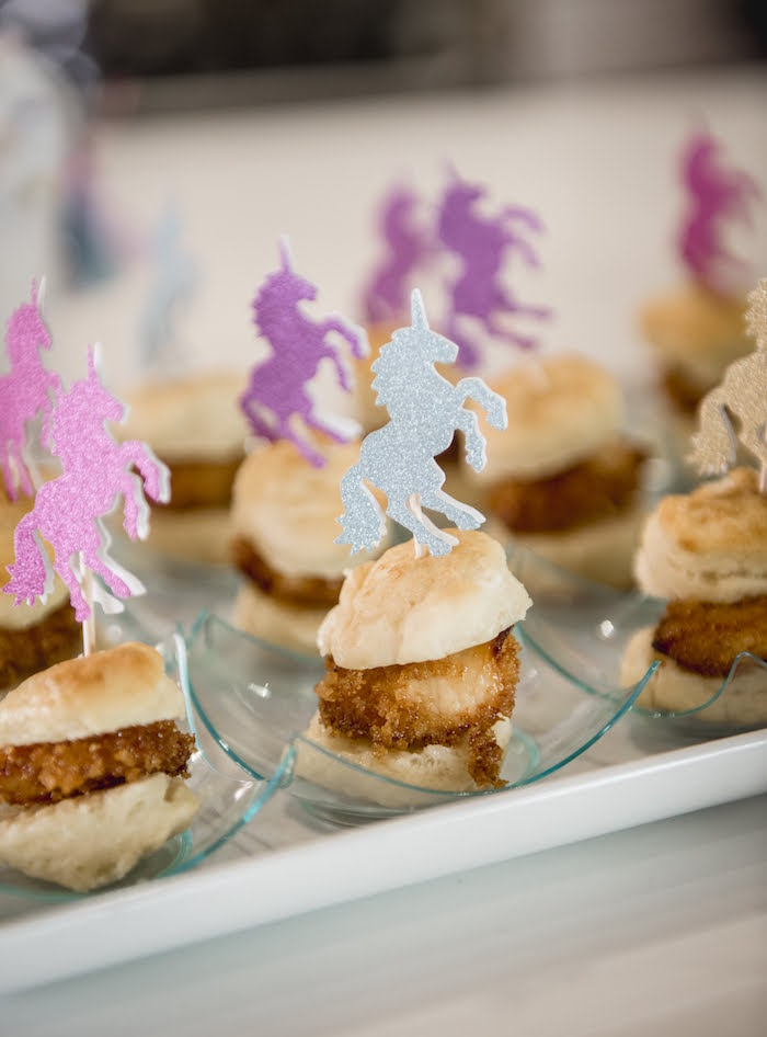 Unicorn Sandwiches from a Rainbow Unicorn Birthday Party on Kara's Party Ideas | KarasPartyIdeas.com (12)