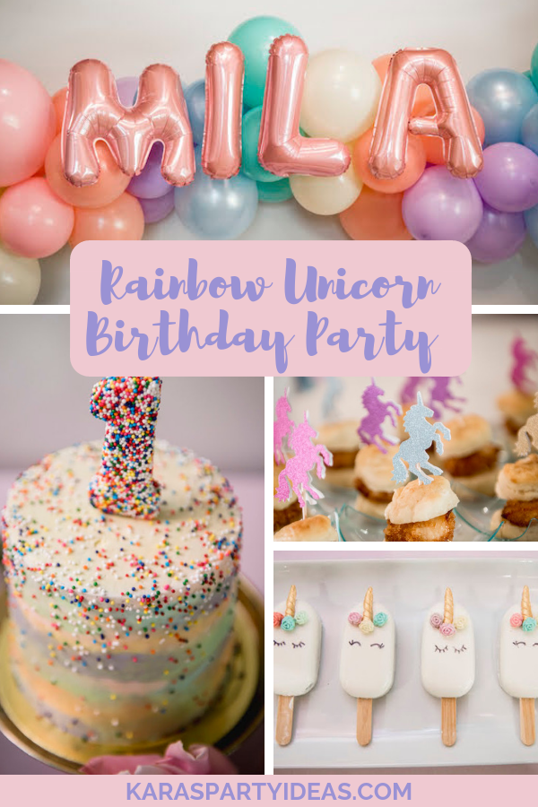 Rainbow Unicorn Birthday Party via Kara's Party Ideas - KarasPartyIdeas.com
