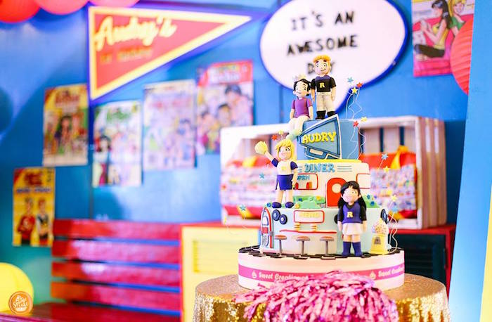 Riverdale High Comic Cake from a Riverdale High Comic Themed Birthday Party on Kara's Party Ideas | KarasPartyIdeas.com (19)