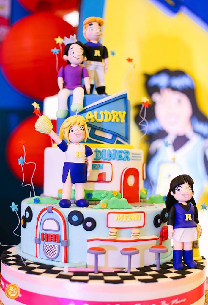 Riverdale High Themed Birthday Cake from a Riverdale High Comic Themed Birthday Party on Kara's Party Ideas | KarasPartyIdeas.com (17)