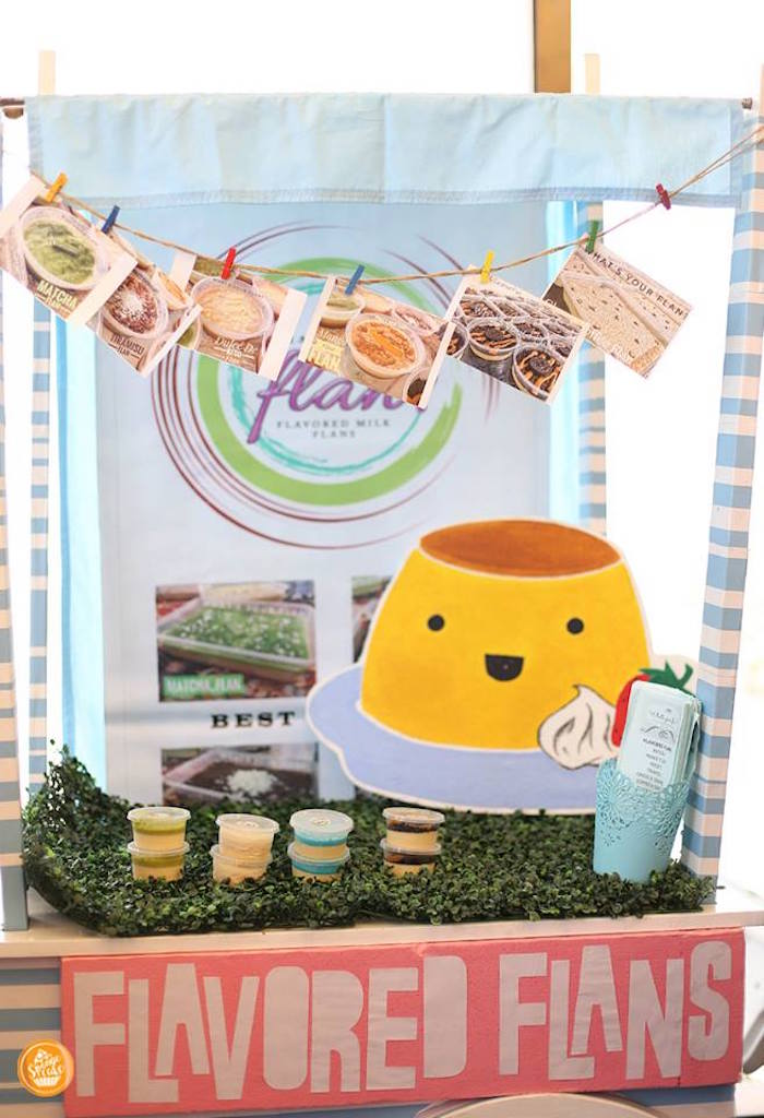 Flavored Flan Cart from a Riverdale High Comic Themed Birthday Party on Kara's Party Ideas | KarasPartyIdeas.com (15)