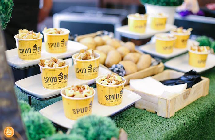 Spud Bud Cups from a Riverdale High Comic Themed Birthday Party on Kara's Party Ideas | KarasPartyIdeas.com (22)