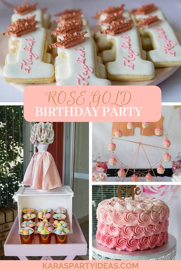 Rose Gold Birthday Party via Kara's Party Ideas - KarasPartyIdeas.com