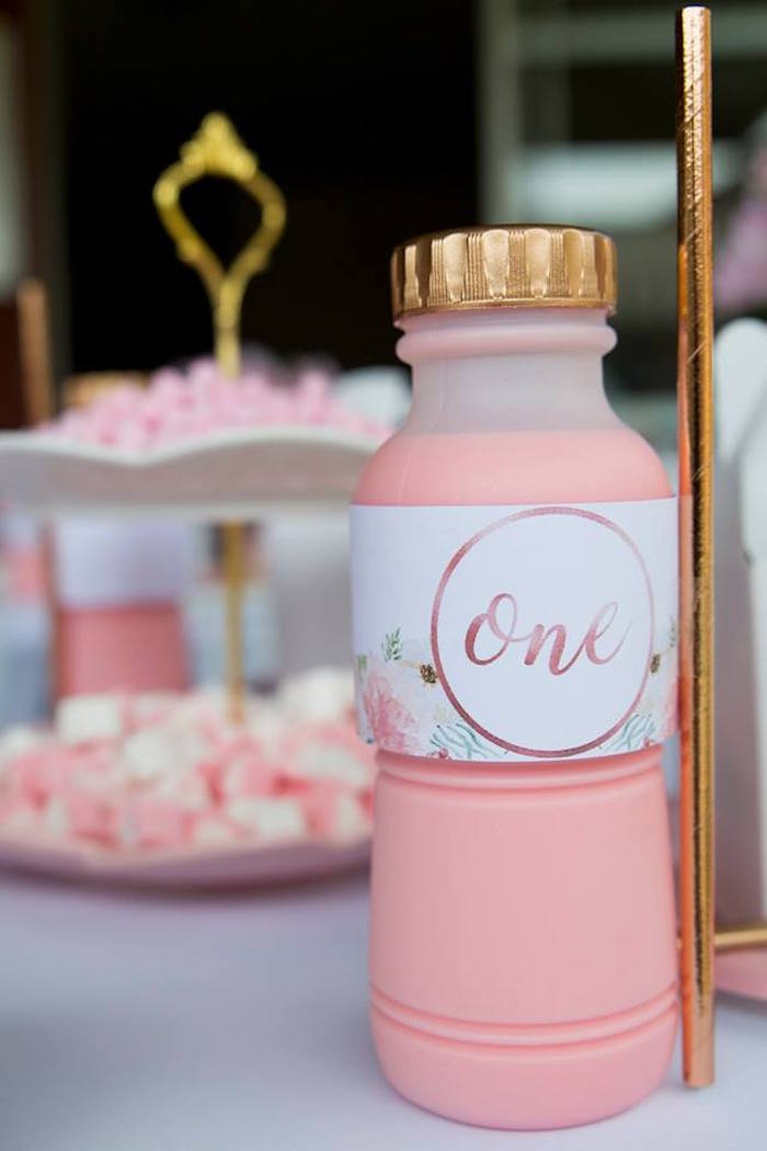 Rose Gold + Pink Smoothie from a Rose Gold Princess Party on Kara's Party Ideas | KarasPartyIdeas.com (13)