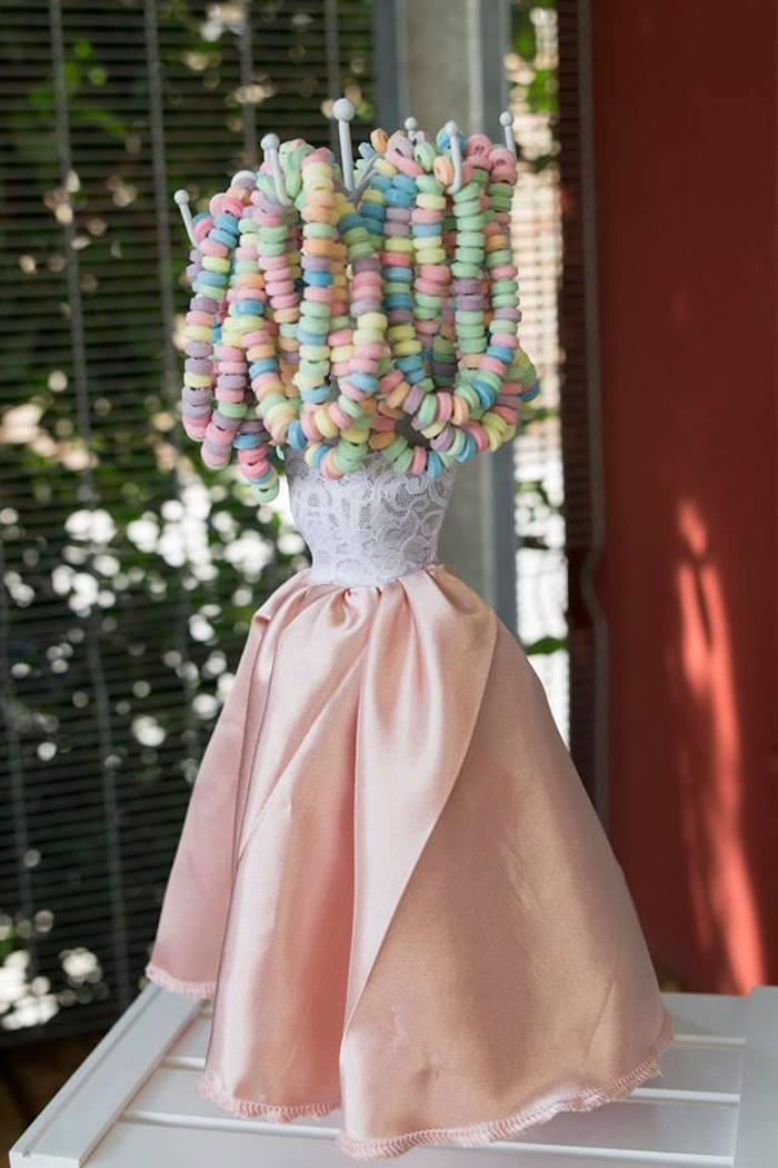 Dress Form Candy Necklace Rack from a Rose Gold Princess Party on Kara's Party Ideas | KarasPartyIdeas.com (22)