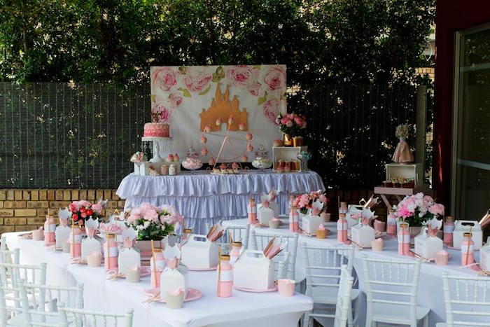 Rose Gold Princess Party on Kara's Party Ideas | KarasPartyIdeas.com (17)