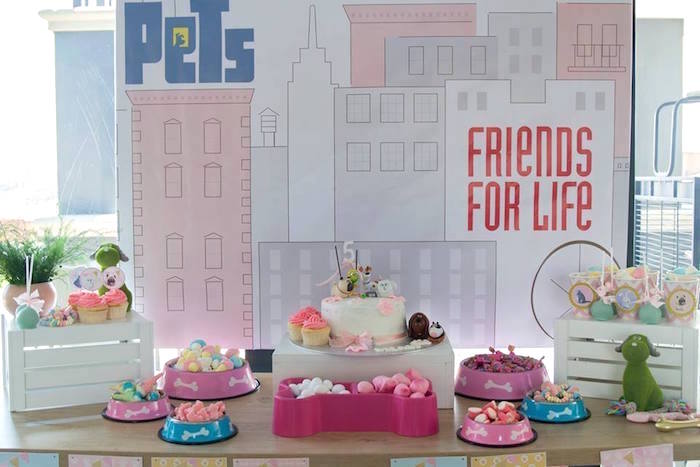 Secret Life of Pets Themed Dessert Table from a Secret Life of Pets Birthday Party on Kara's Party Ideas | KarasPartyIdeas.com (17)