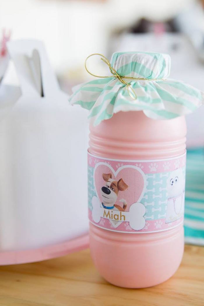 Secret Life of Pets Drink Bottle from a Secret Life of Pets Birthday Party on Kara's Party Ideas | KarasPartyIdeas.com (16)