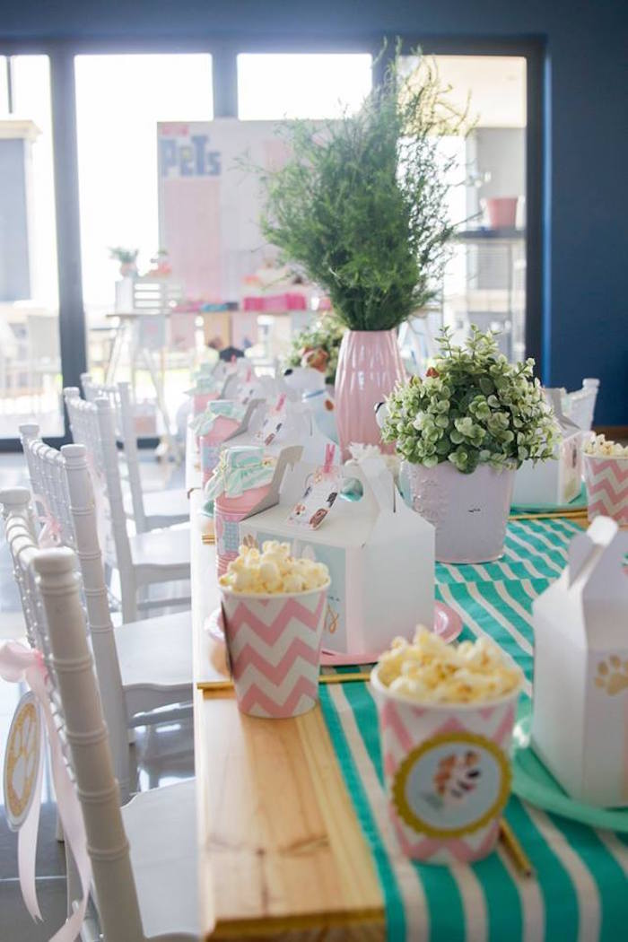 Kid + Party Table from a Secret Life of Pets Birthday Party on Kara's Party Ideas | KarasPartyIdeas.com (10)