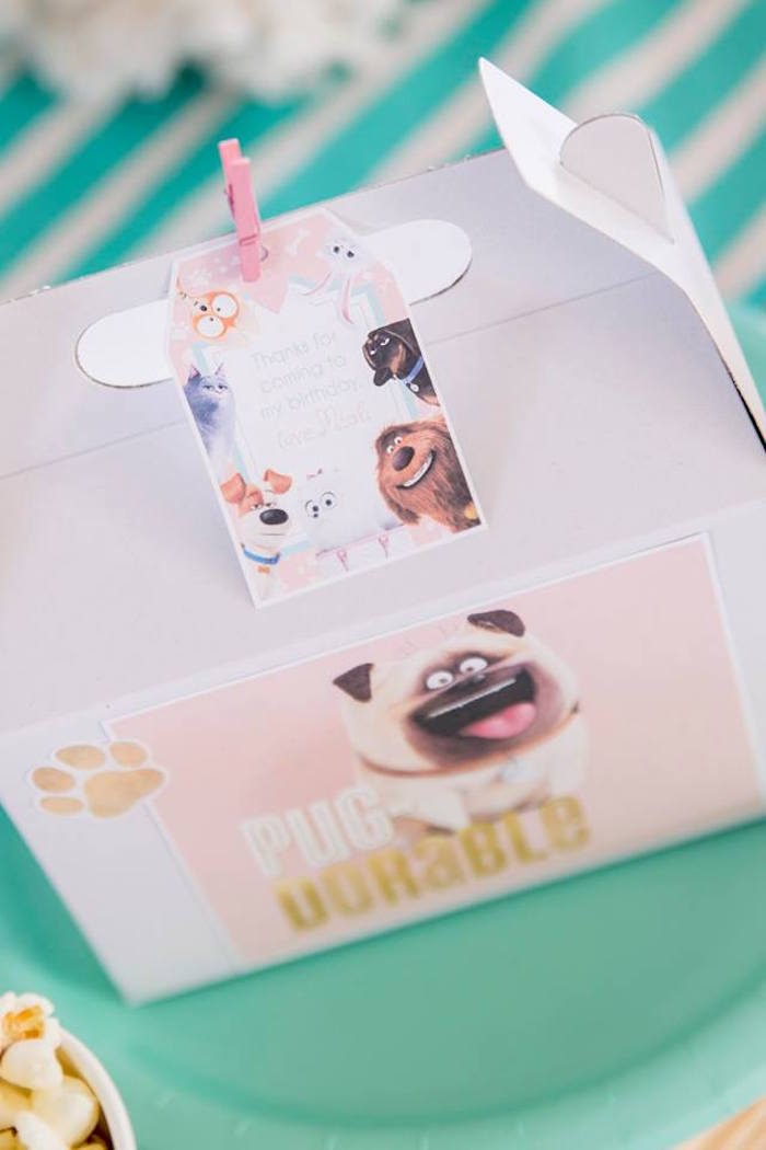 Secret Life of Pets-inspired Gable Favor Box from a Secret Life of Pets Birthday Party on Kara's Party Ideas | KarasPartyIdeas.com (9)
