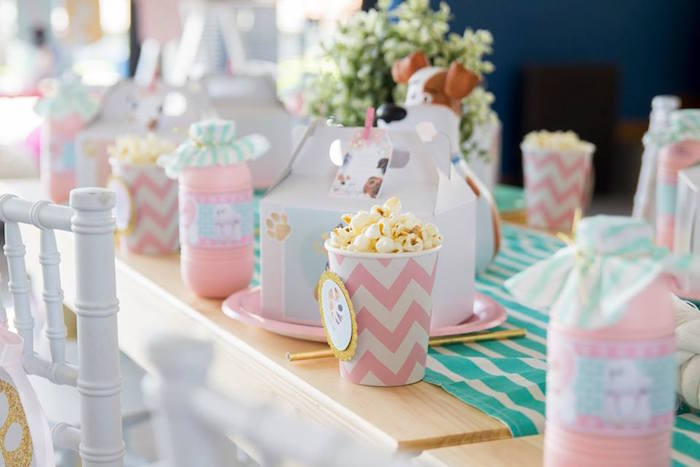 Kid Table from a Secret Life of Pets Birthday Party on Kara's Party Ideas | KarasPartyIdeas.com (30)