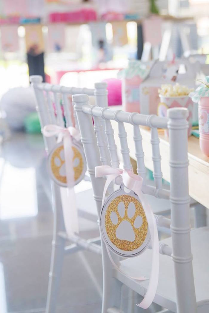 Paw Print Chair Ties from a Secret Life of Pets Birthday Party on Kara's Party Ideas | KarasPartyIdeas.com (27)