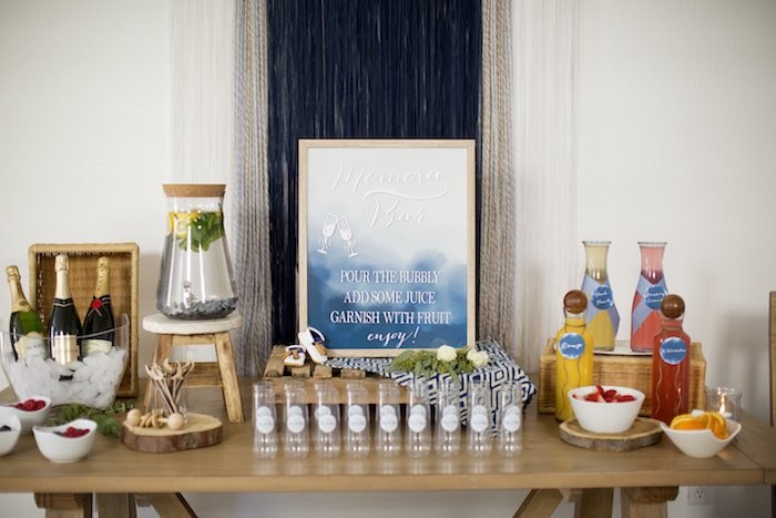 """Mom""- osa Bar from a Shibori Tie Dye Baby Shower Brunch on Kara's Party Ideas 