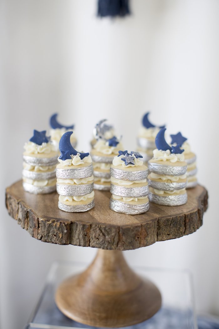 Star & Moon Cookie Stacks from a Shibori Tie Dye Baby Shower Brunch on Kara's Party Ideas | KarasPartyIdeas.com (27)