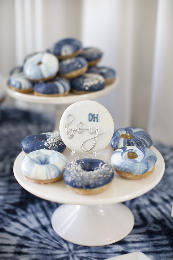 Tie Dye Doughnuts from a Shibori Tie Dye Baby Shower Brunch on Kara's Party Ideas | KarasPartyIdeas.com (23)