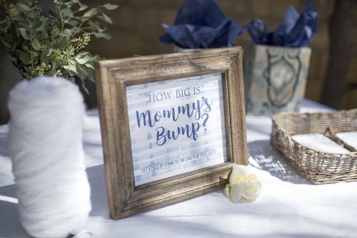 How Big is Momma's Bump - Game + Signage from a Shibori Tie Dye Baby Shower Brunch on Kara's Party Ideas | KarasPartyIdeas.com (48)