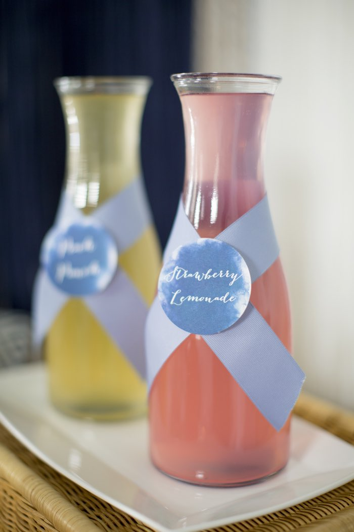 Mimosa Mix-ins from a Shibori Tie Dye Baby Shower Brunch on Kara's Party Ideas | KarasPartyIdeas.com (45)
