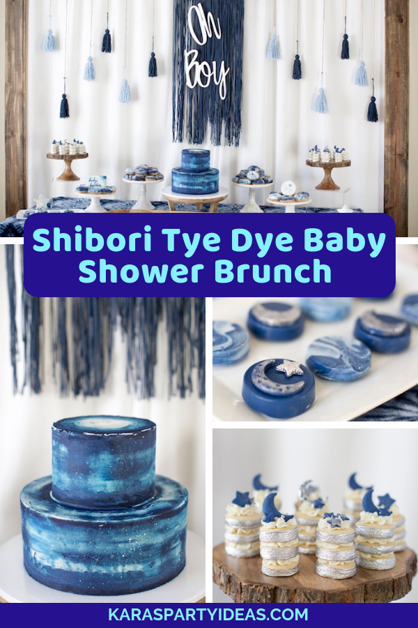 Shibori Tye Dye Baby Shower Brunch via Kara's Party Ideas - KarasPartyIdeas.com