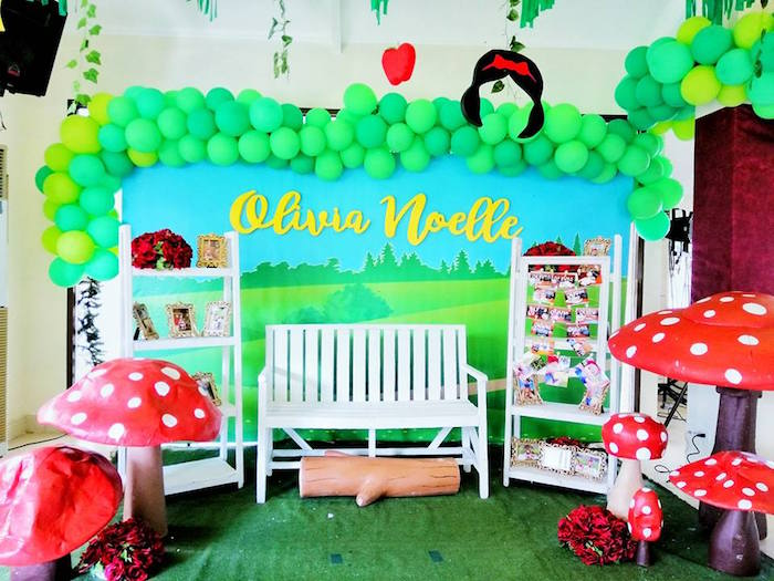 Enchanted Forest Lounge from a Snow White Birthday Party on Kara's Party Ideas | KarasPartyIdeas.com (15)