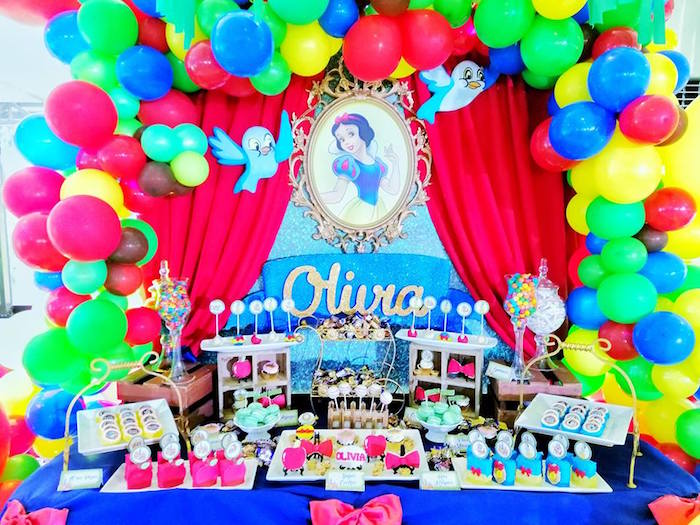 Snow White-inspired Dessert Table from a Snow White Birthday Party on Kara's Party Ideas | KarasPartyIdeas.com (12)