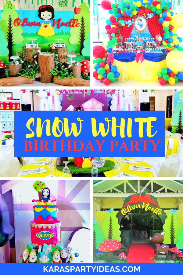Snow White Birthday Party via Kara's Party Ideas - KarasPartyIdeas.com